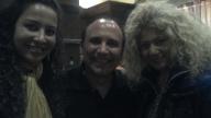com Michel Camillo, pianista, e Christine, cantora